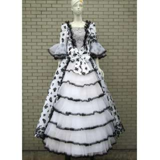 Lace Southern Belle Gothic Lolita Wedding Ball Gown Prom Dress